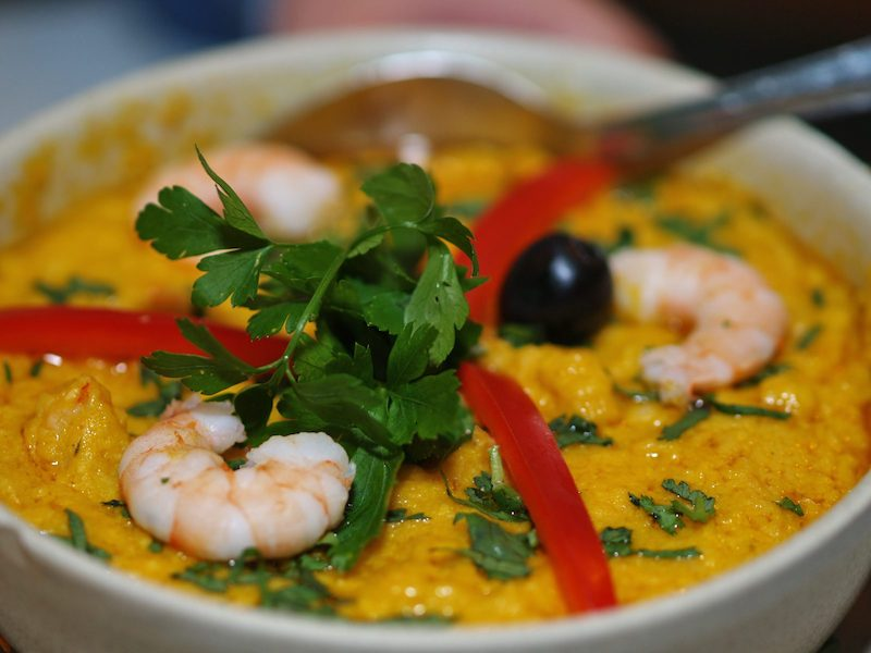 Economizar em Fortaleza - prato típico Vatapá