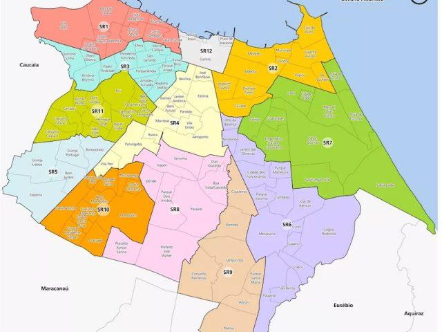 Mapa turístico de Fortaleza