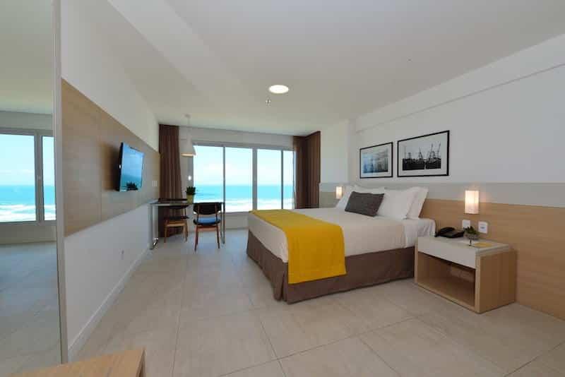 Quarto do hotel Gran Mareiro em Fortaleza