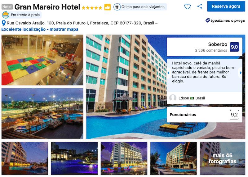 Hotel Gran Mareiro em Fortaleza