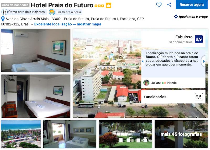 Hotel Praia do Futuro em Fortaleza