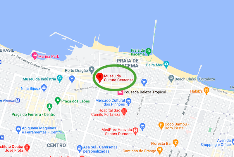Localização do Museu da Cultura Cearense